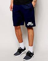 Шорты мужские Nike Найк темно-синие (большой принт) (РЕПЛИКА)