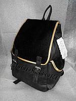 Женский рюкзак из кожзама и искуственного меха