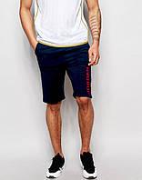 Короткие шорты мужские Jordan Джордан темно-синие (большой принт) (РЕПЛИКА)