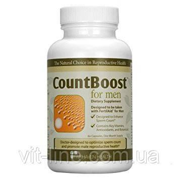 Fairhaven Health, CountBoost для мужчин, витамины для для репродуктивного здоровья мужчин 60 капсул