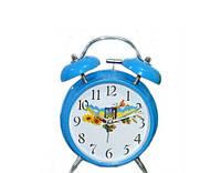 Часы будильник механические Украина синие
