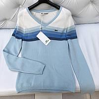 Женский пуловер Lacoste голубой