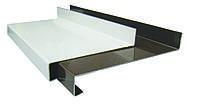 Отлив стальной (ширина 130 мм) белый/коричневый