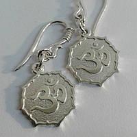 Серебряные серьги Ом в Лотосе, фото 1