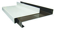 Отлив стальной (ширина 270 мм) белый/коричневый