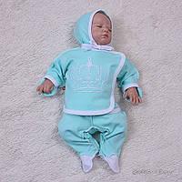 Набор для младенцев из трех предметов, Queen, мятного цвета