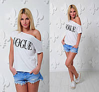 """Женская модная футболка-хулиганка """"Vogue"""" (3 цвета)"""