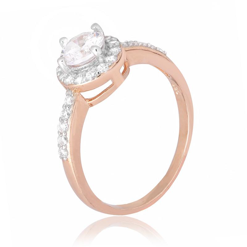 """Серебряное кольцо с позолотой """"437"""""""