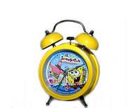 Детские часы будильник Губка Боб, Спанч Боб мультгерои