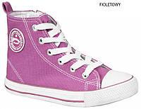 """Подростковые высокие кеды 520/14 """"American Club""""(фиолетовый) размеры 36-41"""