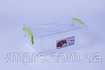 Контейнер пищевой LUX №03, 1.2 L,(212×141×77),емкость,судок для продуктов