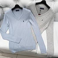 Женский однотонный пуловер Polo Ralph Lauren
