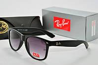 Солнцезащитные очки RB Wayfarer черные, фото 1