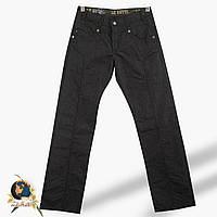 Джинсы мужские прямые Le Gutti серо-чёрного цвета с замками 34 размер.