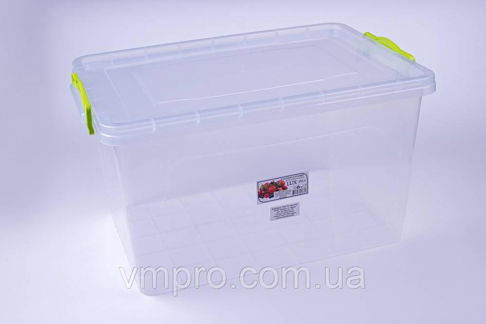 Контейнер пищевой LUX №09, 23 L,(450×312×250),емкость,судок для продуктов
