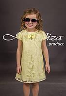 Стильное летнее платье для девочки (рост 110-140)