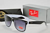 Солнцезащитные очки RB Wayfarer черные с белым
