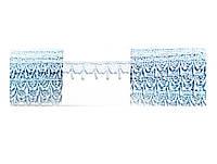 Кружево вязаное,цвет голубой, ширина 2см, 9 м в упаковке