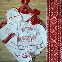 Красивый набор на крестины для девочки с крыжмой