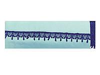 Кружево вязаное,цвет т-синий, ширина 2см, 9 м в упаковке