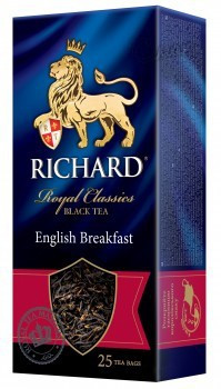 Чай Richard English Breakfast, пакетированный, 25*2