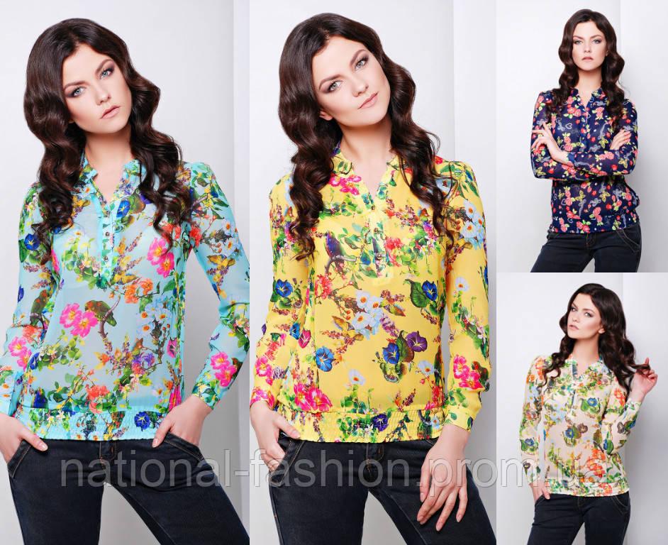 31ed04e390c Блузка шифоновая в цветы