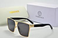 Солнцезащитные очки Versace черные с золотом