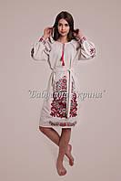 Заготівля жіночої сукні для вишивки нитками/бісером БС-118с