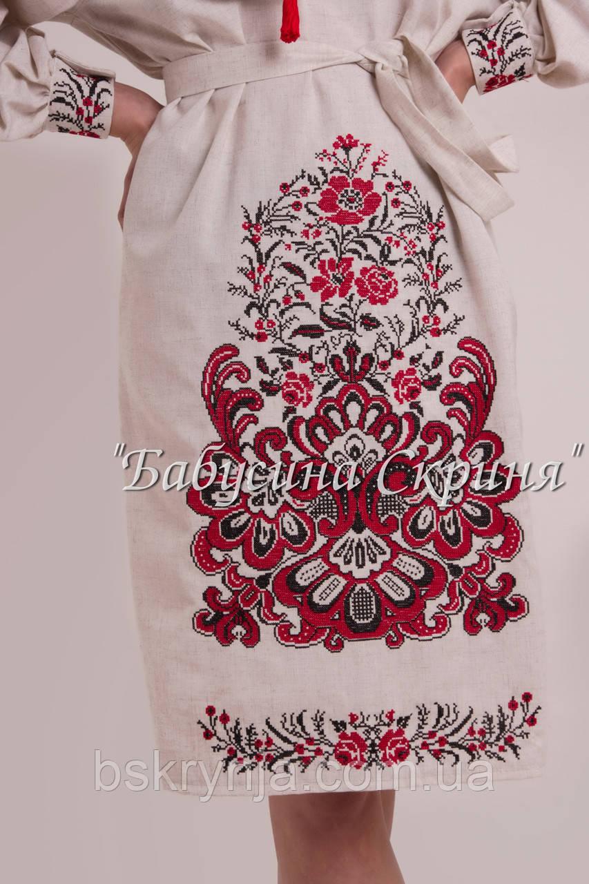 ... Заготовка жіночої сукні для вишивки нитками бісером БС-118с c0fe5534db031