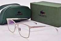 Оправа прямоугольная Lacoste серебристая, фото 1