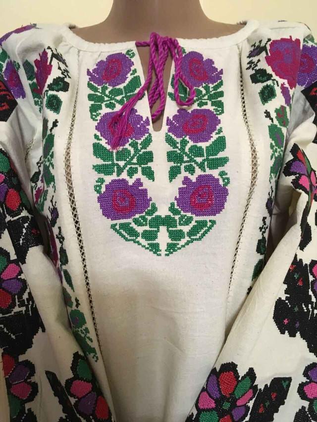 Вишиванка жіноча Борщівська на старовинному льоні. Розмір  ХХХL   український 52-54  f74d1b171bbfe