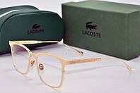 Оправа прямоугольная Lacoste золотая, фото 1