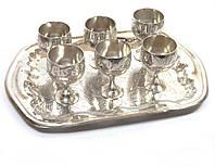 Рюмки бронзовые хром (н-р 6 шт.)(Goli Set Nkl small)