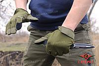 Тактические сенсорные перчатки Olive. Mil-tec (Германия) 12521101