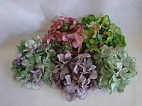 Искусственные цветы из ткани соцветие Гортензии.
