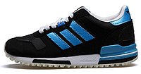 Женские кроссовки Adidas ZX700 Originals Black Electric Blue (aдидас ZX) синие