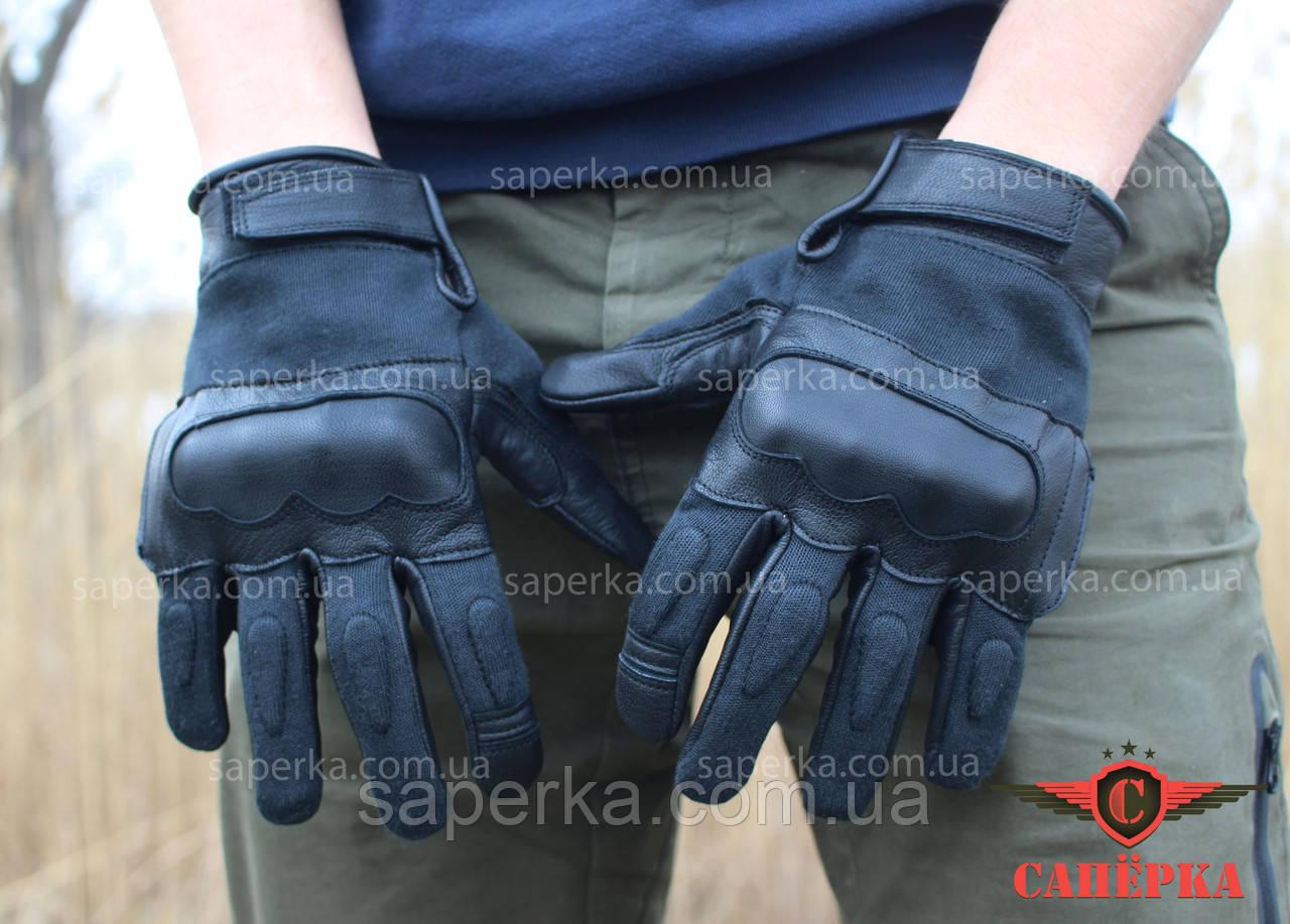 Перчатки тактические кевларовые Leder Black. Mil-tec 12504202 (Германия)