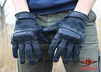 Перчатки тактические кевларовые Leder Black. Mil-tec (Германия)
