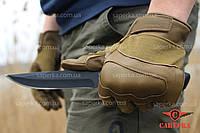 Перчатки тактические кевларовые Leder Dark Coyote. Mil-tec (Германия)