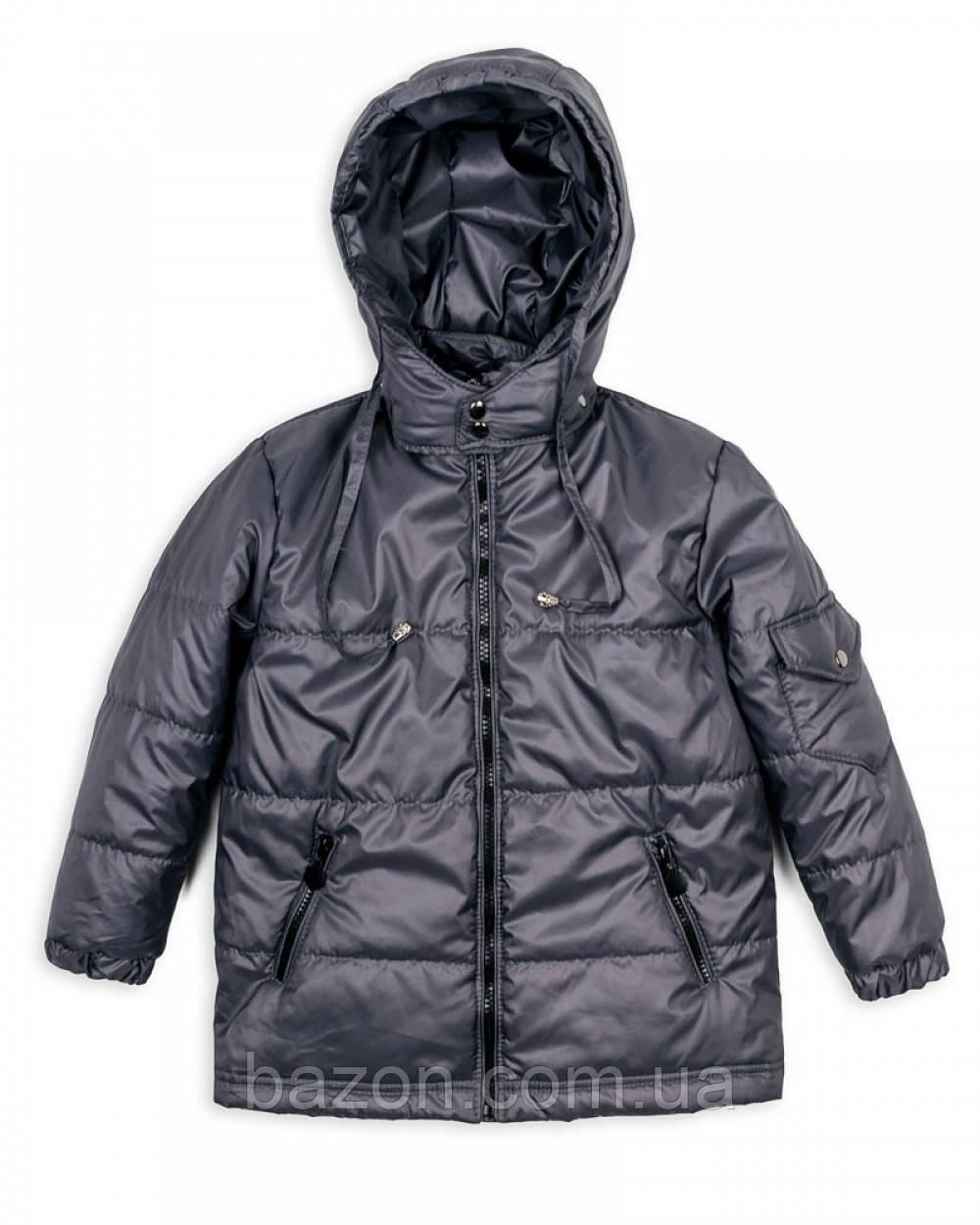 Детская куртка на мальчика 1-5 лет весна-осень (серая)