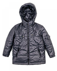 Дитяча куртка на хлопчика 1-5 років весна-осінь (сіра)