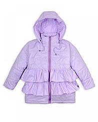 """Куртка дитяча """"Рюшу"""" на дівчинку 1-5 років весна-осінь (лілова)"""