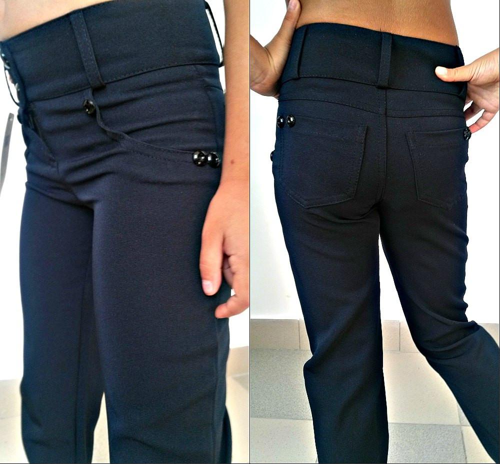 Детские брюки для девочки классические 122-140 см