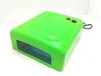 Ультрафиолетовая лампа для сушки ногтей Master 808 (MPL)38 Вт длягель-лака(Салатовая)