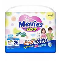 Японские трусики Merries Big (15-28кг) 26шт