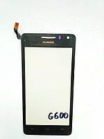 Сенсор (touchscreen) Huawei Ascend Honor G600/U8950/U9508 чорний