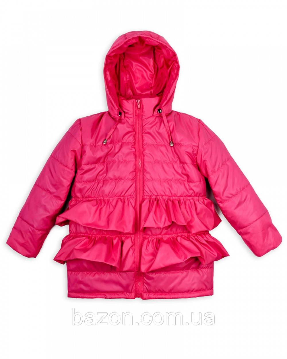 """Детская куртка """"Рюша"""" на девочку 1-5 лет весна-осень (малина)"""
