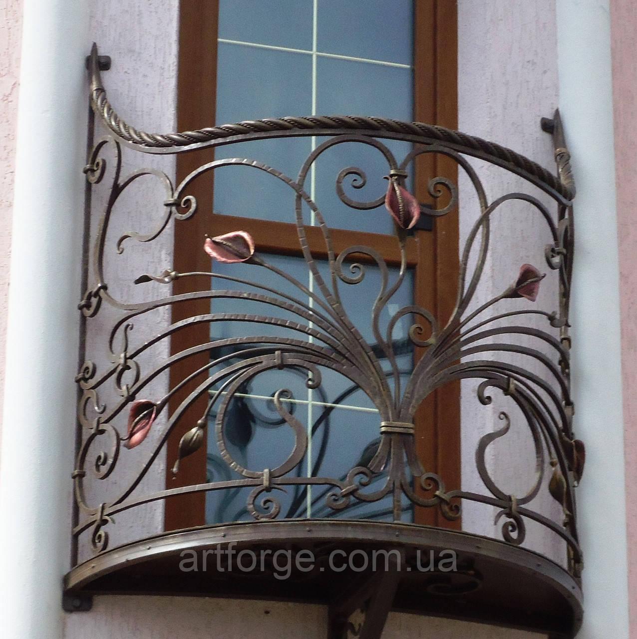 Кованые ограждения балконов, террас