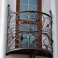 Кованые ограждения балконов, террас, фото 1
