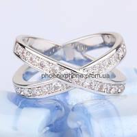 Милое кольцо с кристаллами Swarovski, покрытое платиной (109440)